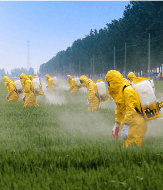 Spraying Produce